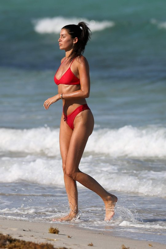Nicole Williams Red Bikini