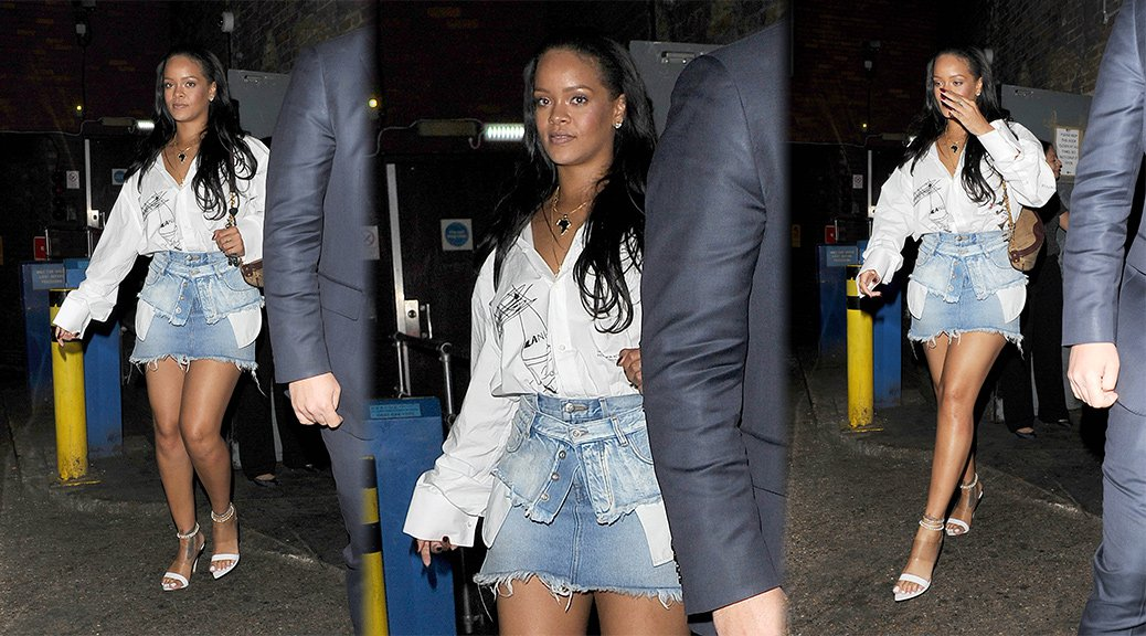 Rihanna - Leggy Candids in London