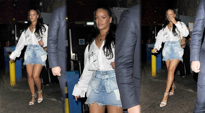 Rihanna – Leggy Candids in London