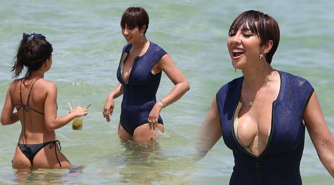 Jackie Cruz Swimsuit Candids In Miami