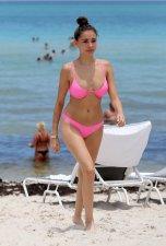 Madison Beer Pink Bikini