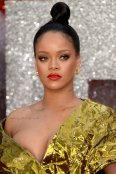 Rihanna show off big cleavage in London