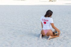 Claudia Romani Bikini Thong Photoshoot