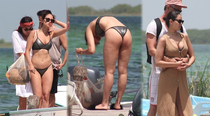 Eiza Gonzalez – Bikini Candids in Muyil