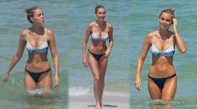 Elizabeth Turner – Bikini Candids in Miami