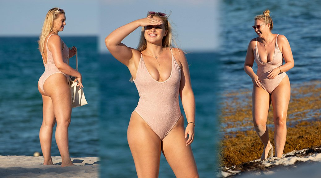 Iskra Lawrence - Swimsuit Candids in Miami Beach