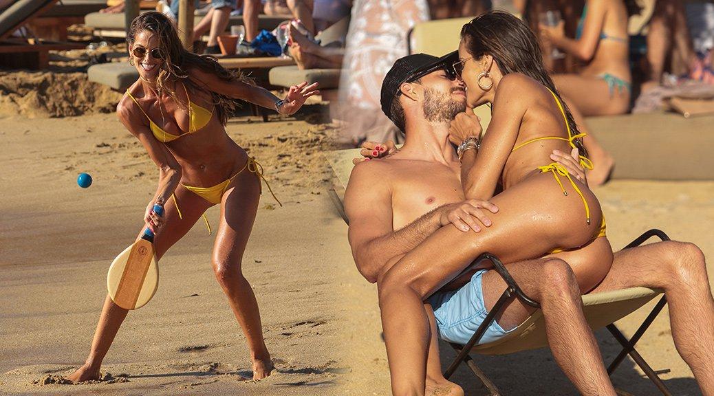 Izabel Goulart - Thong Bikini Candids in Mykonos