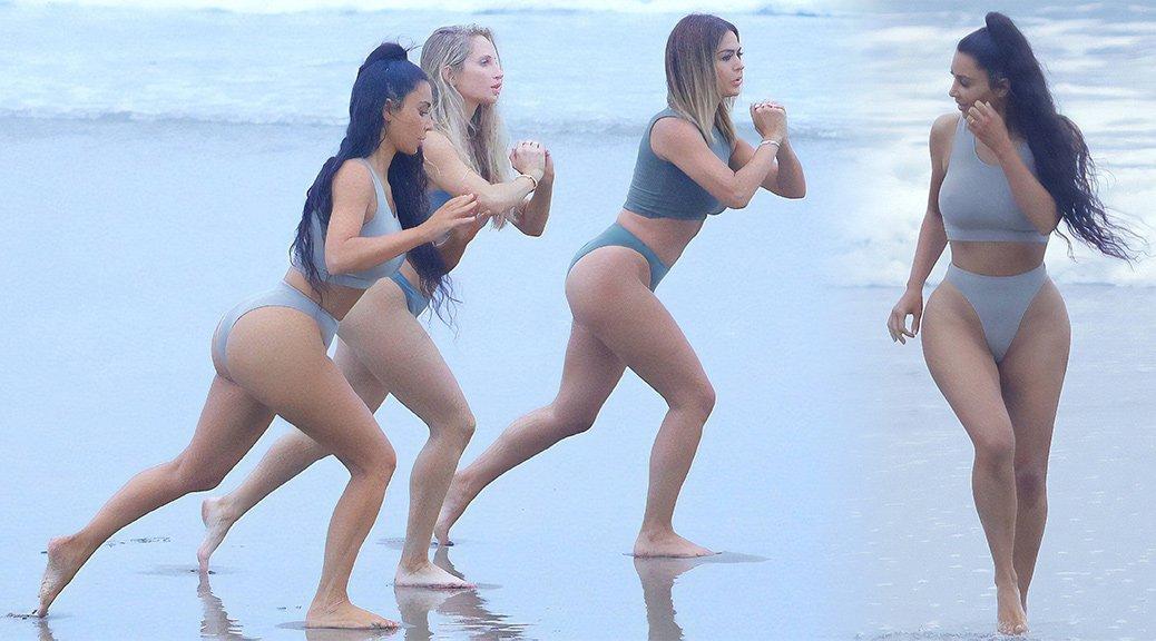 Kim Kardashian - Bikini Candids in Los Angeles