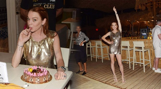 Lindsay Lohan – Birthday Party in Mykonos