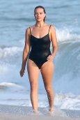 Margot Robbie Black Swimsuit