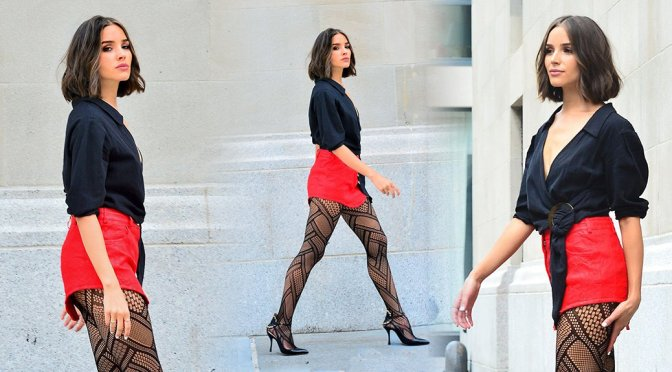 Olivia Culpo – Leggy Photoshoot Candids in New York
