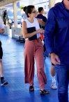 Selena Gomez Boarding a yacht in NY