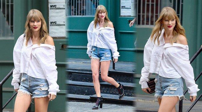 Taylor Swift – Leggy Candids in New York