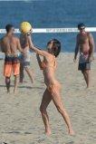 Alessandra Ambrosio Sexy Bikini On Beach In La