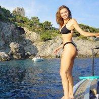 Alyssa Arce Black Bikini