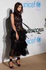 Emily Ratajkowski Sheer Black Dress At Unicef Summer Gala