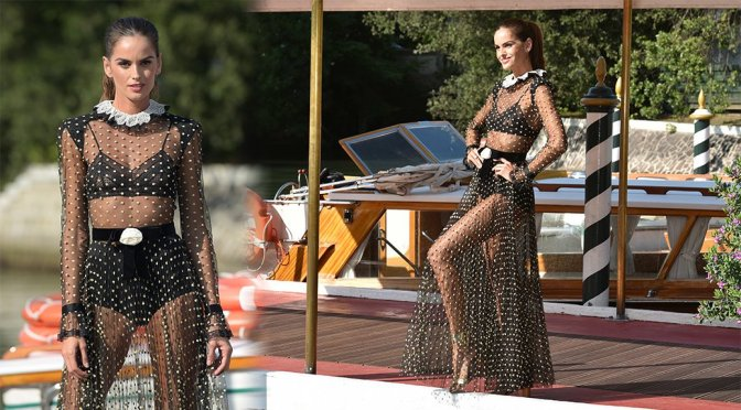 Izabel Goulart – Photoshoot Candids in Venice