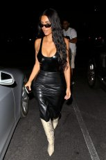 Kim Kardashian Big Cleavage In Beverly Hills