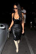Kim Kardashian Big Cleavage In Beverly Hills