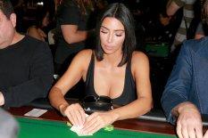 Kim Kardashian Sexy Cleavage At Poker Tournament In La