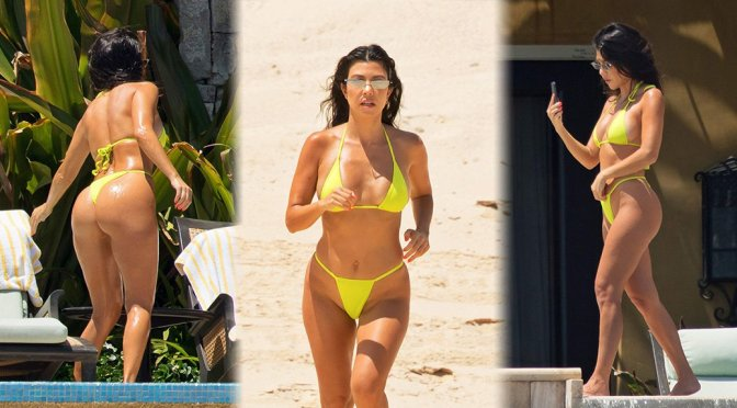 Kourtney Kardashian – Bikini Candids in Mexico