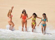 Kourtney Kardashian Sexy Yellow Bikini