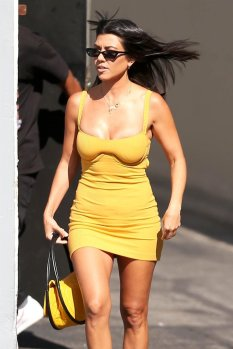 Kourtney Kardashian At E Studios In La