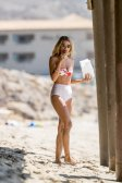 Rachel Mccord Wet Sheer Swimsuit In Malibu