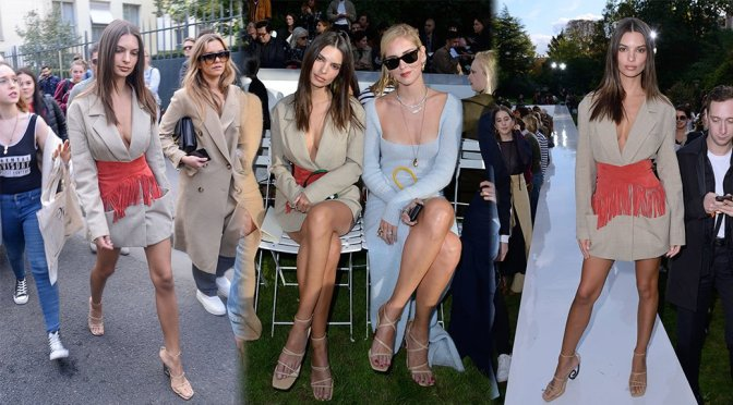 Emily Ratajkowski – Jacquemus Fashion Show in Paris