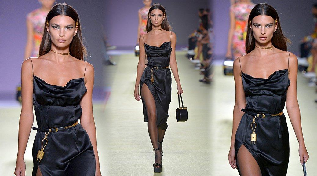 Emily Ratajkowski - Versace Fashion Show in Milan