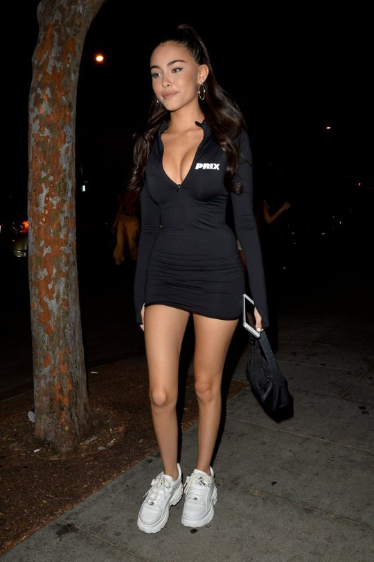Madison Beer Sexy Legs And Cleavage