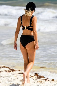 Ashley James Bikini On Beach