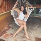 Jessica Decote White Swimsuit