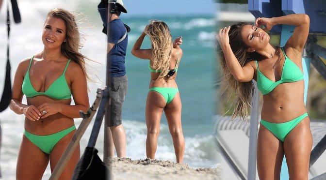 Jessie James Decker – Bikini Photoshoot Candids in Miami Beach