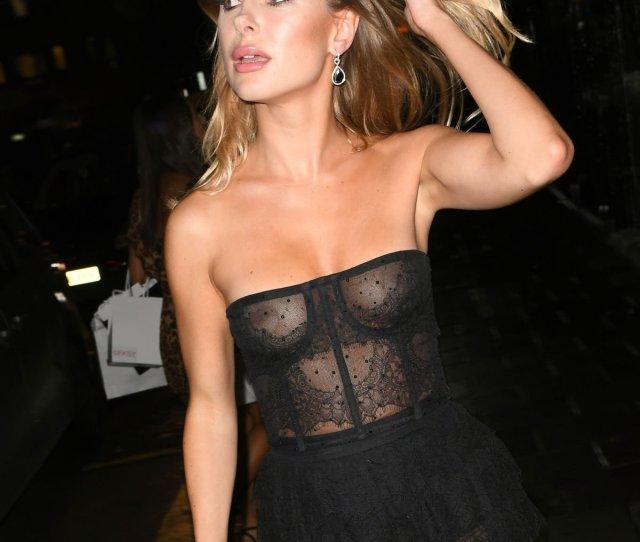 Kimberley Garner Braless Boobs At International Day Of The Girl Gala In London