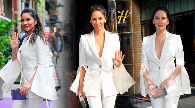 Olivia Munn – Candids in New York