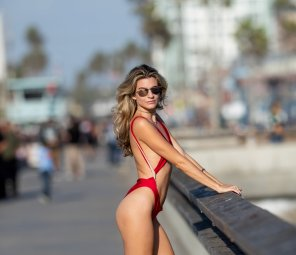 Rachel Mccord Sexy Red Swimsuit