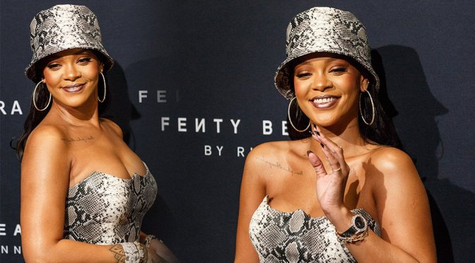 Rihanna -Fenty Beauty by Rihanna Anniversary Event in Sydney
