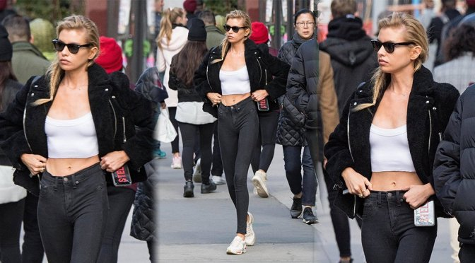 Stella Maxwell – Sexy Candids at The Smile in New York