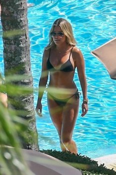 Sylvie Meis Bikini By Pool