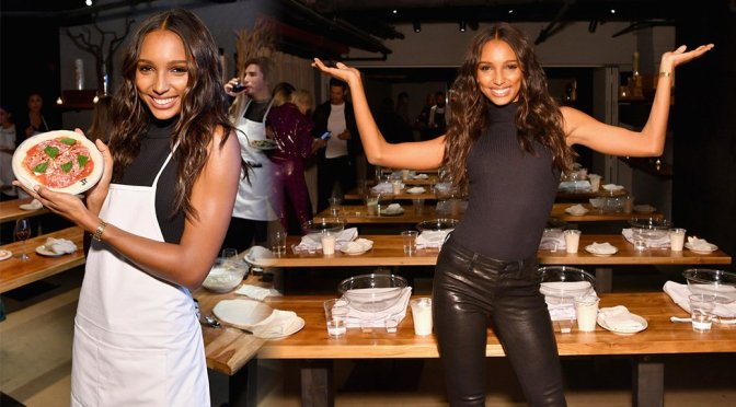 Jasmine Tookes – Victoria's Secret Influencer Pizza Making Class