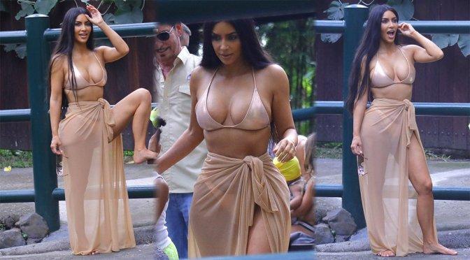 Kim Kardashian – Bikini Candids in Bali
