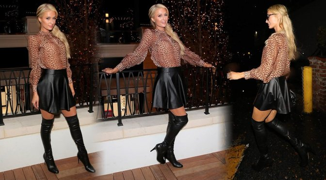 Paris Hilton Sexy In Boots