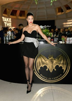 Adriana Lima Sexy Black Dress