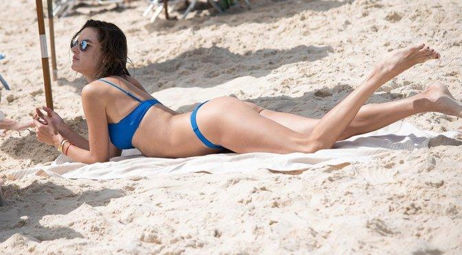Alessandra Ambrosio – Sexy Bikini on the Beach in Florianopolis