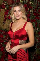 Ashley James Sexy In Red Dress