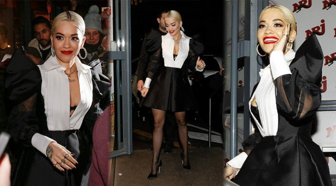 Rita Ora – Sexy Candids at NRJ Radio in Paris