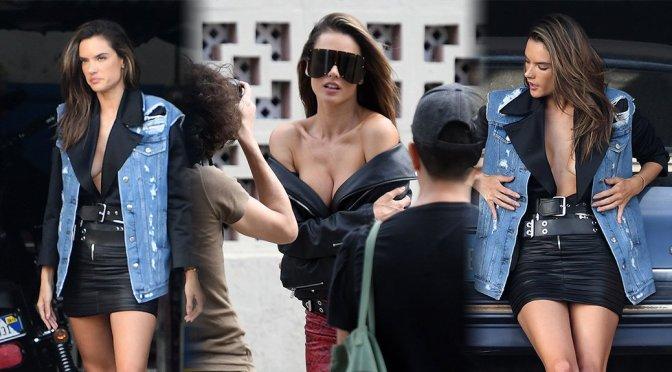 Alessandra Ambrosio – Elle Magazine Photoshoot Candids in Florida
