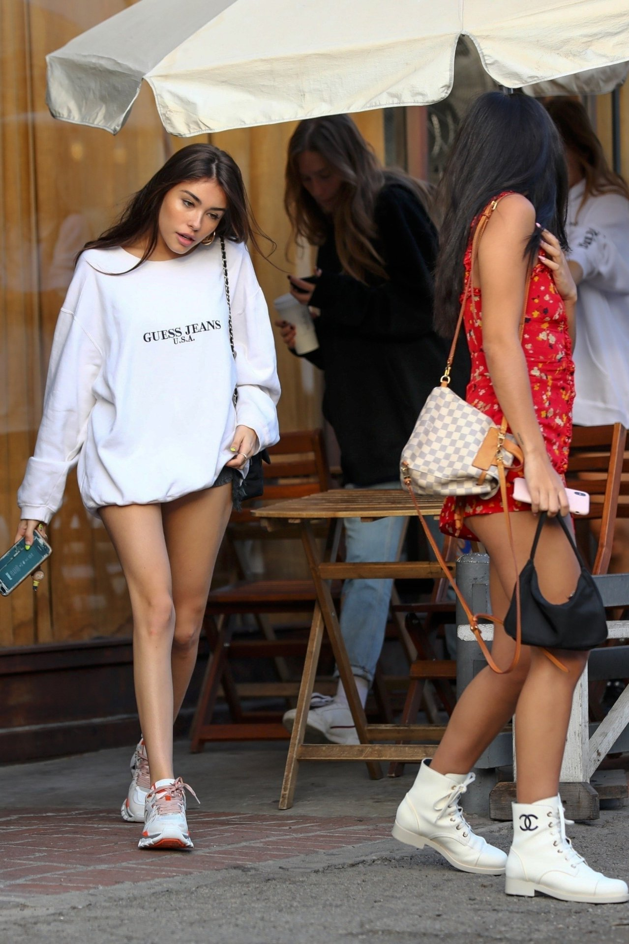 Madison Beer Sexy Long Legs