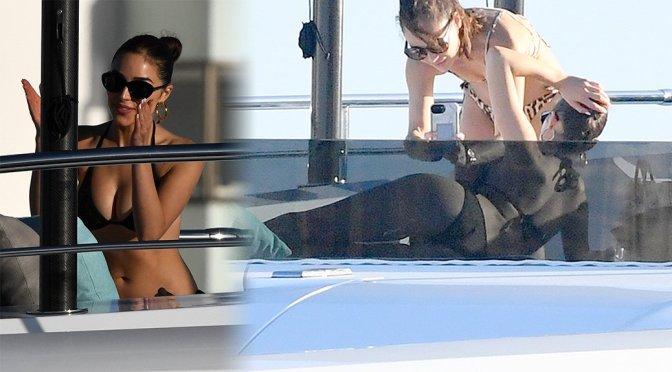 Olivia Culpo – Bikini Candids on a Yacht in Miami